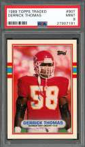 1989 topps traded #90t DERRICK THOMAS kansas city chiefs rookie card PSA 9