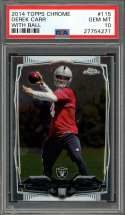 2014 topps chrome #115 DEREK CARR oakland raiders rookie card PSA 10