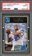2016 panini donruss #362 DAK PRESCOTT dallas cowboys rookie card PSA 10