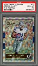 2016 panini donruss the rookies #10 EZEKIEL ELLIOTT dallas cowboys rookie PSA 10