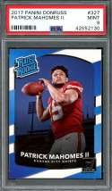 2017 panini donruss #327 PATRICK MAHOMES kansas city chiefs rookie card PSA 9