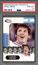 2006 showcase prospects LIONEL MESSI soccer rookie card PSA 10