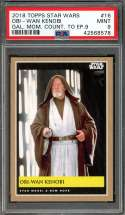 2018 topps star wars gal. mom. count. to ep. 9 #16 OBI-WAN KENOBI PSA 9