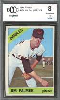 1966 topps #126 JIM PALMER baltimore orioles rookie card BGS BCCG 8