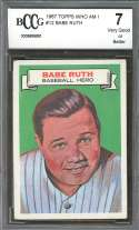 1967 topps who am i #12 BABE RUTH new york yankees (CENTERED) BGS BCCG 7