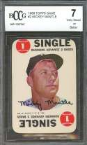 1968 topps game #2 MICKEY MANTLE new york yankees BGS BCCG 7