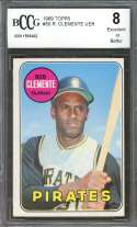 1969 topps #50 ROBERTO CLEMENTE pittsburgh pirates BGS BCCG 8