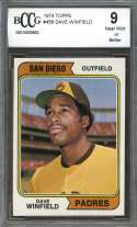 1974 topps #456 DAVE WINFIELD san diego padres rookie card (CENTERED) BGS BCCG 9