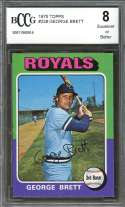 1975 topps #228 GEORGE BRETT kansas city royals rookie card BGS BCCG 8