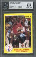 1986 star court kings #18 MICHAEL JORDAN bulls rookie card BGS 8.5 (8.5 8 9 9)