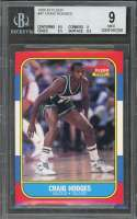 1986-87 fleer #47 CRAIG HODGES milwaukee bucks rookie card BGS 9 (9.5 9 9.5 8.5)