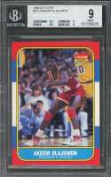 1986-87 fleer #82 AKEEM OLAJUWON houston rockets rookie card BGS 9 (8.5 9 9.5 9)