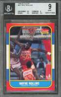 1986-87 fleer #94 TREE ROLLINS atlanta hawks BGS 9 (8.5 9 9.5 9.5)