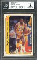 1986-87 fleer stickers #7 MAGIC JOHNSON los angeles lakers BGS 8 (8 8.5 8 9)