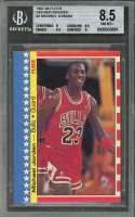 1987-88 fleer stickers #2 MICHAEL JORDAN chicago bulls BGS 8.5 (8 8.5 8.5 9)