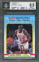 1988-89 fleer stickers #7 MICHAEL JORDAN chicago bulls BGS 8.5 (8.5 8.5 8.5 8.5)