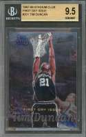 1997-98 stadium club first day issue #201 TIM DUNCAN rc BGS 9.5 (10 9.5 9.5 9.5)