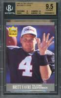 1991 ultra update #u1 BRETT FAVRE packers rookie card BGS 9.5 (10 9.5 9.5 9.5)