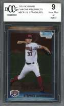 2010 bowman chrome prospects #bcp1 STEPHEN STRASBURG nationals rookie BGS BCCG 9