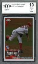 2010 topps chrome #212 STEPHEN STRASBURG washington nationals rookie BGS BCCG 10