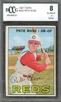 1967 topps #430 PETE ROSE cincinnati reds BGS BCCG 8