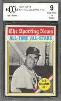 1976 topps #347 TED WILLIAMS ATG boston red sox BGS BCCG 9