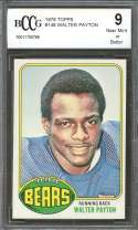 1976 topps #148 WALTER PAYTON chicago bears rookie card BGS BCCG 9