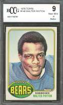 1976 topps #148 WALTER PAYTON chicago bears rookie card (CENTERED) BGS BCCG 9