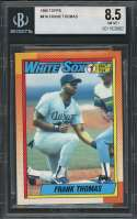 1990 topps #414 FRANK THOMAS chicago white sox rookie card BGS 8.5