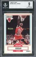 1990-91 fleer #26 MICHAEL JORDAN chicago bulls card BGS 9