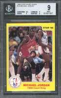 1986 star court kings #18 MICHAEL JORDAN chicago bulls rookie BGS 9 (8.5 9 9 9)