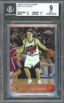 Steve Nash Rookie Card 1996-97 Topps Chrome #182 Suns BGS 9 (8.5 9.5 9.5 9)