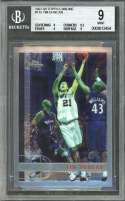 Tim Duncan Rookie Card 1997-98 Topps Chrome #115 Spurs BGS 9 (9 9.5 9 9)