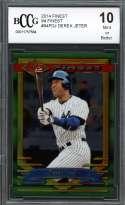 Derek Jeter Card 2014 Finest 94 Finest #94Fdj New York Yankees BGS BCCG 10