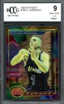 Anfernee Hardaway Rookie Card 1993-94 Finest #189 Orlando Magic BGS BCCG 9