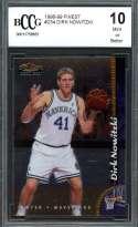 Dirk Nowitzki Rookie Card 1998-99 Finest #234 Dallas Mavericks BGS BCCG 10