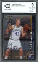Dirk Nowitzki Rookie Card 1998-99 Finest #234 W/Coating Mavericks BGS BCCG 9