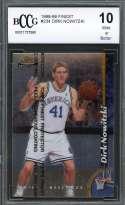 Dirk Nowitzki Rookie Card 1998-99 Finest #234 W/Coating Mavericks BGS BCCG 10