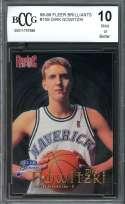 Dirk Nowitzki Rookie Card 1998-99 Fleer Brilliants #109 Mavericks BGS BCCG 10