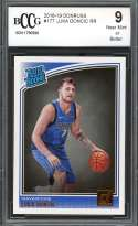 Luka Doncic Rookie Card 2018-19 Donruss #177 Dallas Mavericks BGS BCCG 9