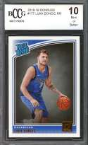 Luka Doncic Rookie Card 2018-19 Donruss #177 Dallas Mavericks BGS BCCG 10
