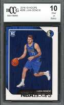 Luka Doncic Rookie Card 2018-19 Hoops #268 Dallas Mavericks BGS BCCG 10
