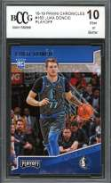 Luka Doncic Rookie Card 2018-19 Panini Chronicles Playoff #183 BGS BCCG 10