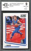 Luka Doncic Rookie Card 2018-19 Panini Chronicles Score #681 BGS BCCG 9