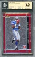 Calvin Johnson Rookie Card 2007 Finest #135 Lions BGS 9.5 (9.5 9.5 9.5 10)