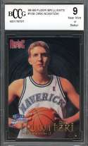Dirk Nowitzki Rookie Card 1998-99 Fleer Brilliants #109 Mavericks BGS BCCG 9