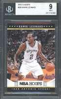 Kawhi Leonard Rookie Card 2012-13 Hoops #236 San Antonio Spurs BGS 9