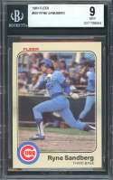 Ryne Sandberg Rookie Card 1983 Fleer #507 Chicago Cubs BGS 9