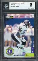 Ray Lewis Rookie Card 1996 Collector'S Choice Update #32 Baltimore Ravens BGS 9