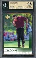 Tiger Woods Rookie Card 2001 Upper Deck #1 Golf BGS 9.5 (9 9.5 9.5 9.5)